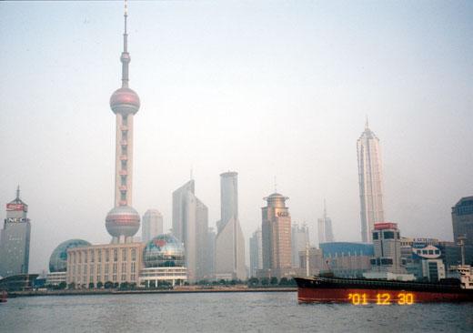2001年12月当時の浦東の全景