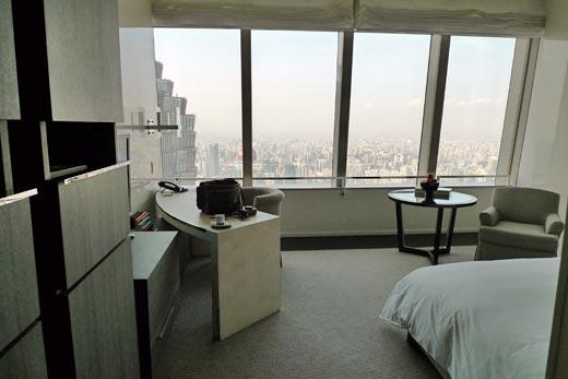 パークハイアット上海の部屋からの眺め