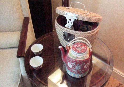 浦東シャングリラ上海のお茶セット