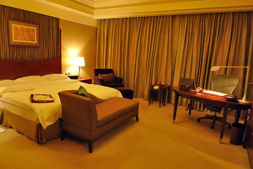 セントレジス上海の部屋内部