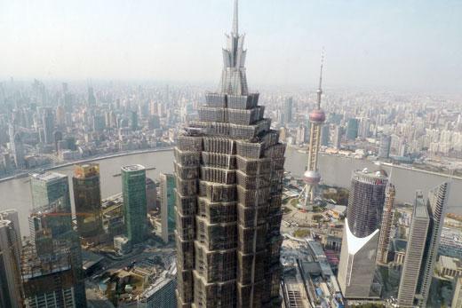 パークハイアット上海から眺めた巨大都市上海