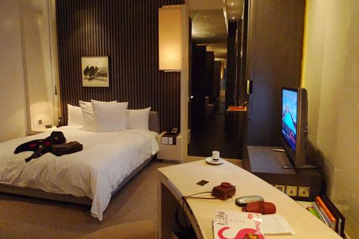 パークハイアット上海の部屋内部