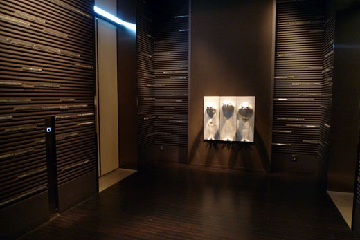 パークハイアット上海のエレベーターホール