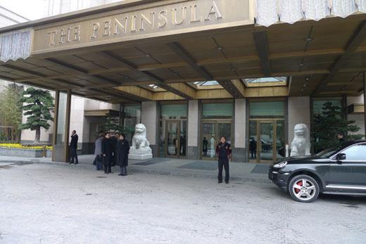 ザ・ペニンシュラ上海の正面玄関車寄せ