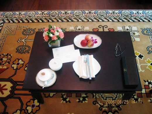 ラッフルズ北京ホテルのウェルカムフルーツ