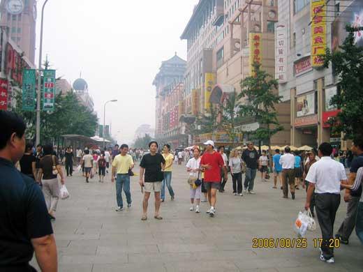 2006年夏の王府井
