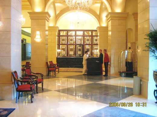ラッフルズ北京ホテルのレセプション