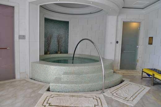 サウナルームと水浴槽タブ