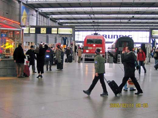 ミュンヘン中央駅の構内