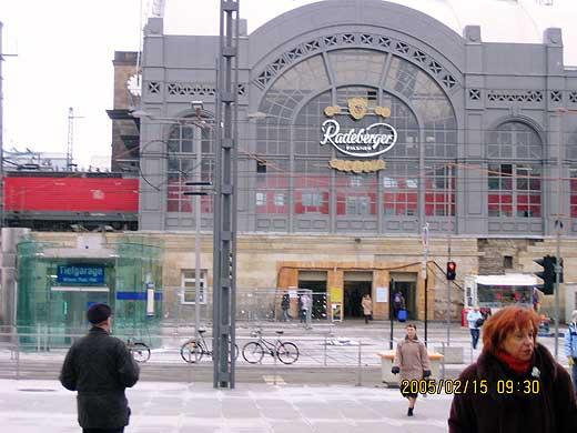 ドレスデン中央駅正面駅舎