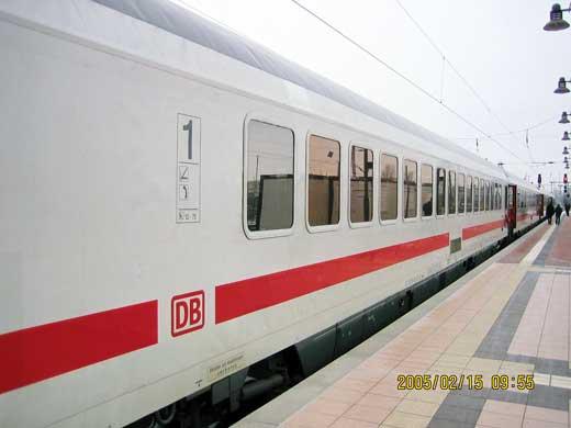 ベルリン行きのEC178列車