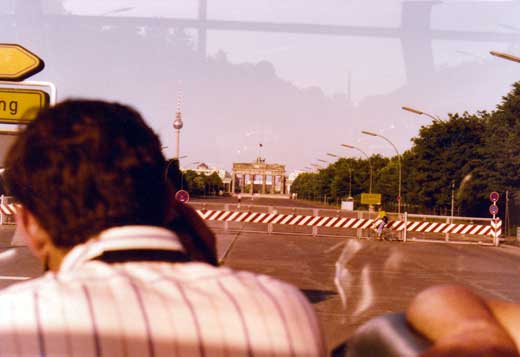 1974年時、西ベルリン側から撮った写真