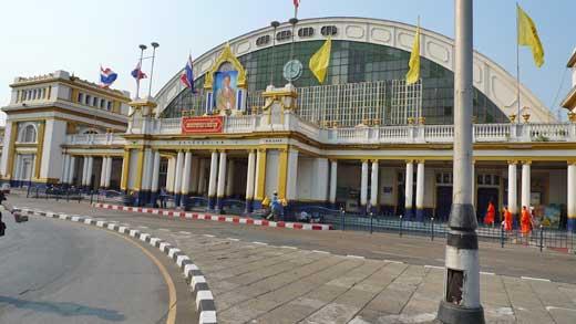 バンコクの中央駅、フアランポーン駅
