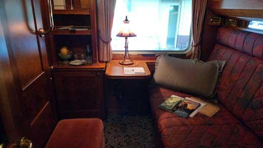 客車内プルマン・キャビンの室内