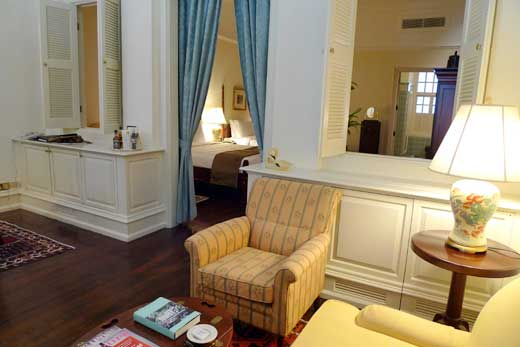 ラッフルズ・ホテルの客室
