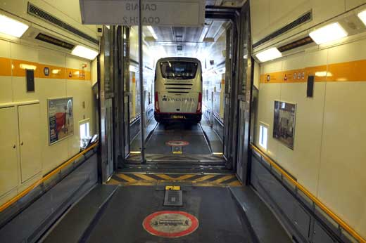 Through the Dover Channel Tunnel